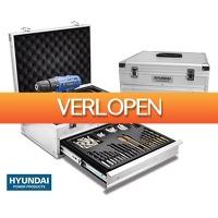 Voordeelvanger.nl: 275-delige Hyundai oplaadbare boormachine