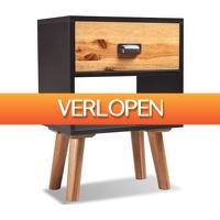 VidaXL.nl: vidaXL Nachtkastje 40 x 30 x 58 cm massief acaciahout