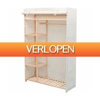 VidaXL.nl: vidaXL kledingkast stof en grenenhout