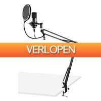 MaxiAxi.com: Vonyx CMS300B USB Studio microfoon met verstelbare arm - zwart