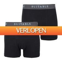 Suitableshop: Suitable Bamboe Boxershorts 2-Pack zwart