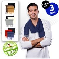 Bekijk de deal van voorHEM.nl: 3 x warme fleece sjaals