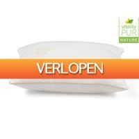 iBOOD Home & Living: Vitality Pur Air Comfort Bamboo hoofdkussen | 50 x 60 cm | Traagschuim