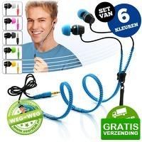 Bekijk de deal van voorHEM.nl: Set van 6 Zipper earphones