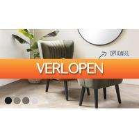 Koopjedeal.nl 3: Luxe velvet fauteuil