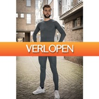 DealDonkey.com: Thermokleding - Heren - Set van broek en shirt - Antraciet
