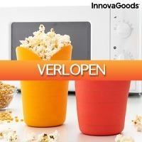 Voordeeldrogisterij.nl: 2 x InnovaGoods siliconen popcornpoppers