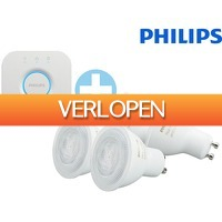 iBOOD Electronics: 2 x Philips Hue White Ambiance GU10 LED lamp + Philips Hue Bridge