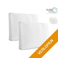 2 x Sleepmed memory foam kussen