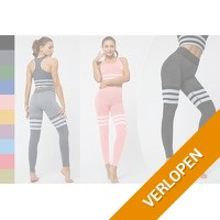 High waist sportlegging en sport BH