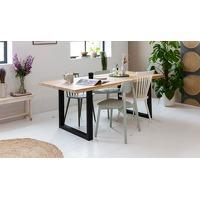 Bekijk de deal van ActieVandeDag.nl 2: Woodcraft eikenhouten tafel