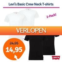 1dagactie.nl: Levi's Basic Crew Neck T-shirts
