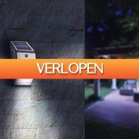 Tuin en Klussen: LED Solar muurlamp New York