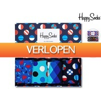 iBOOD Sports & Fashion: Happy Socks Giftbox 4 paar
