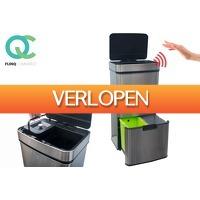 VoucherVandaag.nl 2: Afval scheiden met deze prullenbak van FlinQ