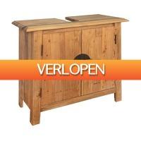 VidaXL.nl: vidaXL Wastafelkast 70 x 32 x 63cm gerecycled massief grenenhout