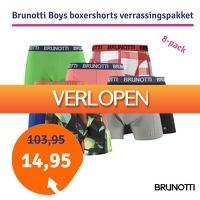 1dagactie.nl: Brunotti Boys 8-pack boxershorts verrassingspakket