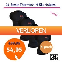 1dagactie.nl: Thermoshirt Shortsleeve 24-seven 4-pack