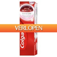 Plein.nl: 12 x Colgate Max White tandpasta Extra Care Sensitive 75 ml