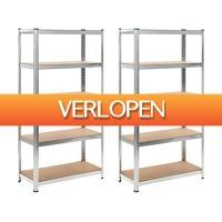 VidaXL.nl: Opbergrekken 2 stuks
