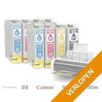 Cartridges voor HP, Epson, Brother en Canon Printers