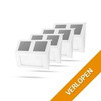 4-pack RVS LED-buitenlampen