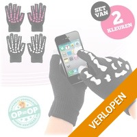 2 paar touchscreen handschoenen