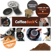 Bekijk de deal van voorHAAR.nl: Coffeeduck voor Senseo of Nespresso
