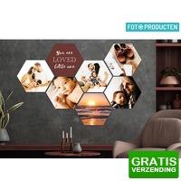 Bekijk de deal van iBOOD Home & Living: Voucher: 10 x foto op hexagon