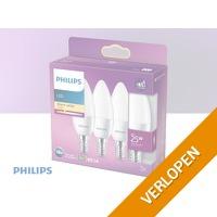 3 x Philips LED Kaars - E14 Mat - 25W