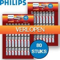 6deals.nl: 80 Philips Power batterijen
