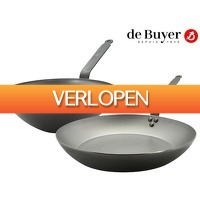iBOOD Home & Living: De Buyer koekenpan en wok set