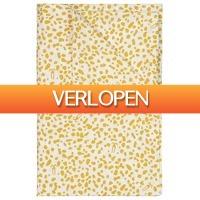 HEMA.nl: Ledikantlaken 120 x 150 - wit/geel