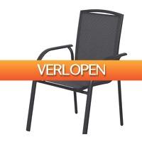 Voordeeldrogisterij.nl: Premium stapelstoel donkergrijs