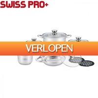 Elkedagietsleuks Ladies: Swiss Pro 12-delige pannenset RVS