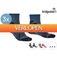 iBOOD Sports & Fashion: 3 paar Bridgedale Trail Merino comfort sokken