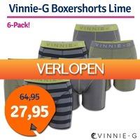 1dagactie.nl: Vinnie-G boxershorts Lime 6-pack