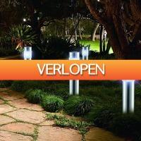 Tuin en Klussen: 4 LED solar tuinlampen San Diego