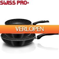 Elkedagietsleuks Ladies: Swiss Pro 3-delige pannenset met marmeren coating