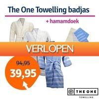 1dagactie.nl: The One Towelling hamam badjas + handdoek
