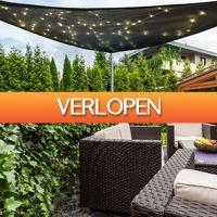 Tuin en Klussen: Schaduwdoek met LED-verlichting
