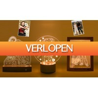 ActievandeDag.nl 1: 3D lamp of fotoframe met LED