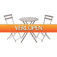 Xenos.nl: Bistroset tafel + 2 stoelen