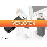 DealDonkey.com 3: Fedec USB 3.0 Multi Card Reader - Plug & Play - Voor Micro SD / SD / MMC / TF Kaart Lezer - Kaartlezer / Geheugenkaartlezer / Cardreader - Compatibel Met Windows & Mac OS - zwart