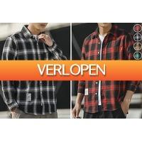 VoucherVandaag.nl: Geruite blouse voor heren in de aanbieding