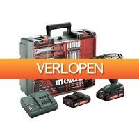 Gereedschapcentrum.nl: Metabo BS 18 18V Li-Ion accu boor-/schroefmachine set (2x 2.0Ah accu) in koffer incl. 73 delige accessoire set