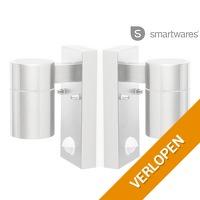 2 x Smartwares wandlamp met bewegingssensor