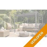 Luxe tuinpaviljoen met zonnescherm