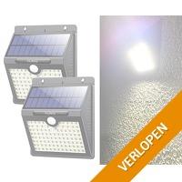 2 x Solar 97 LED wandlamp