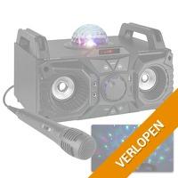 Fenton KAR100 Singstation karaokeset 100W op accu met Bluetooth